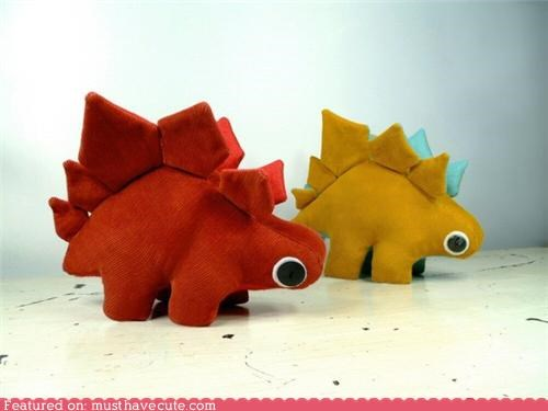 best of the week,cute,dinosaur,googly eyes,Plush,stegosaur