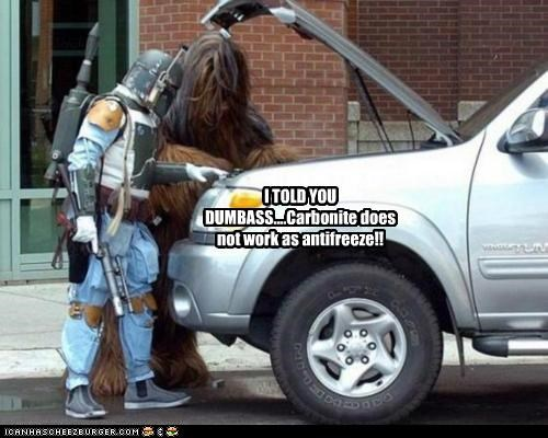 I TOLD YOU DUMBASS....Carbonite does not work as antifreeze!!