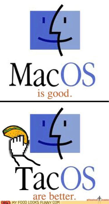 comparison,logo,mac os,tacos