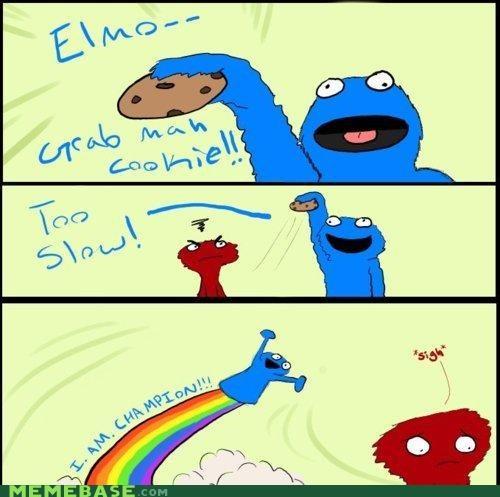 admiral ackbar,Champion,Cookie Monster,elmo,muppets,Sesame Street,slow