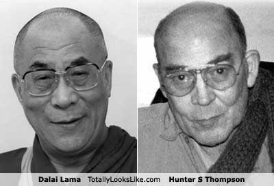 author,buddhism,buddhist,classics,Dalai Lama,glasses,Hunter S Thompson