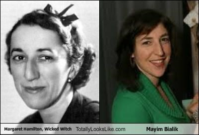 Margaret Hamilton, Wicked Witch  Totally Looks Like Mayim Bialik