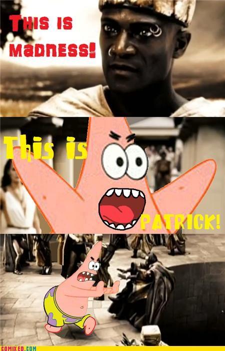 300,best of week,meme,patrick,SpongeBob SquarePants,the internets,this is sparta