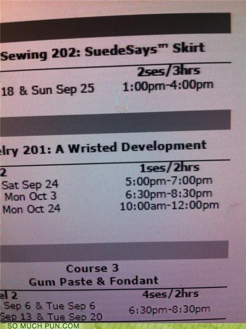 arrested development,development,fabric,joanns,lesson,similar sounding,store,title,workshop,wrist,wristed