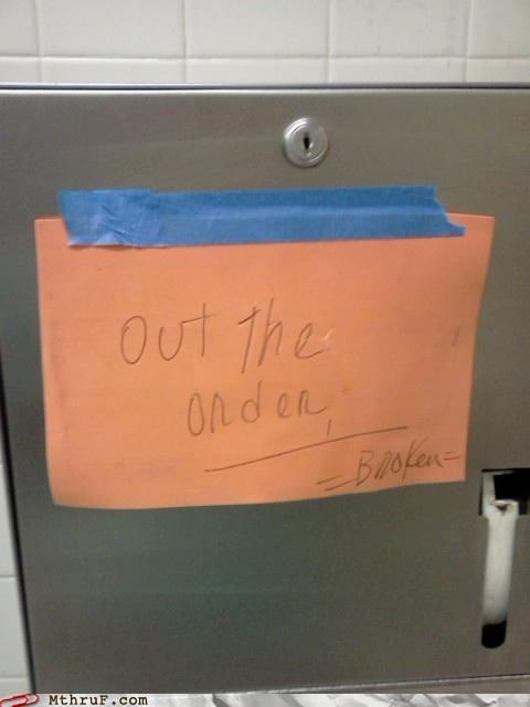 No, Out YOUR Order