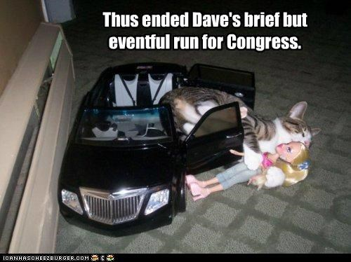 Barbie,brief,caption,captioned,car,cat,caught,Congress,doll,end,ended,eventful,evidence,Photo,politics,run,scandal,thus