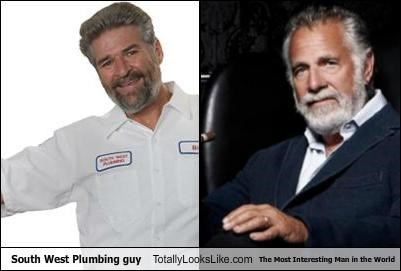South West Plumbing Guy Totally Looks Like The Most Interesting Man in the World