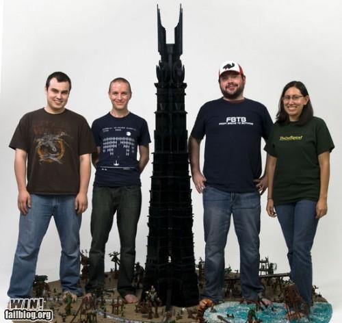 isengard,lego,Lord of the Rings,model,nerdgasm,sculpture