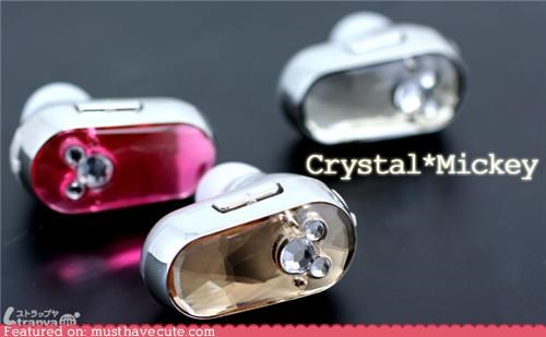 Mickey Mouse Crystal Bluetooth Headset