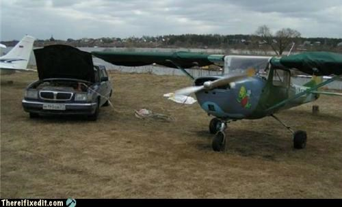 cars,jumper cables,plane,repair