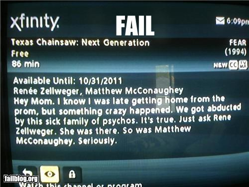 Comcast Description FAIL