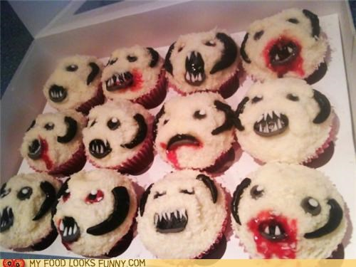 cupcakes,faces,snow man,star wars,wampa,yeti