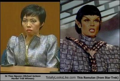 Dr. Thao Nguyen (Michael Jackson Murder Trial Witness) Totally Looks Like This Romulan (Star Trek)