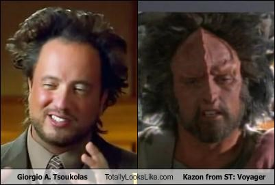 "Giorgio Tsoukalos Totally Looks Like Kazon from ""ST: Voyager"""