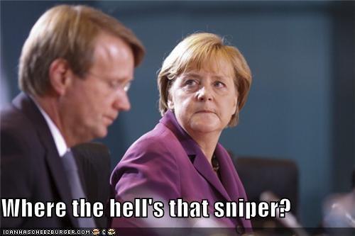 angela merkel,political pictures,sniper