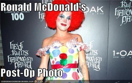 singers,costume,pink,post-op,Ronald McDonald,transgender
