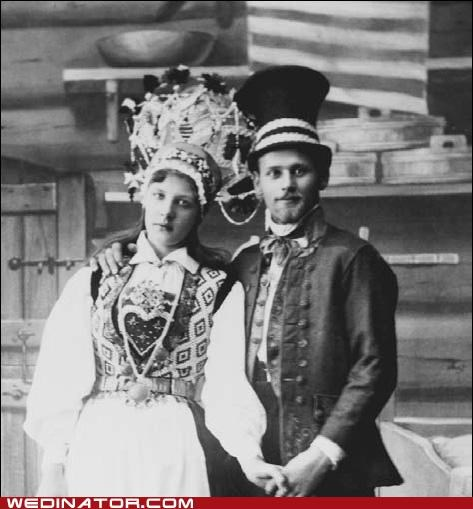 bride,funny wedding photos,groom,swedish,traditional,wedding fashion