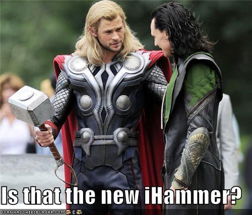 chris hemsworth,hammer,loki,Thor,tom hiddleston