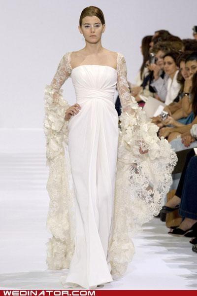 bridal fashion,elie saab,funny wedding photos,pretty or not,wedding couture,wedding dress,wedding fashion
