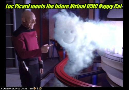Luc Picard meets the future Virtual ICHC Happy Cat.