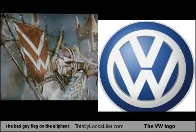 The bad guy flag on the oliphant Totally Looks Like The VW logo