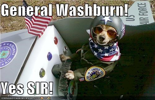 General Washburn!  Yes SIR!