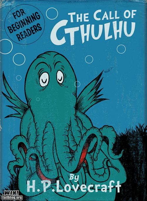 art,cthulu,dr seuss,Hall of Fame,homage,horror,illustration,kids book,lovecraft,parody