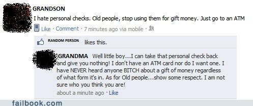 cash,checks,grandparents,money,oh snap,ungrateful