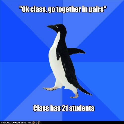 class,even,logic,odd,pairs,socially awkward penguin,solution