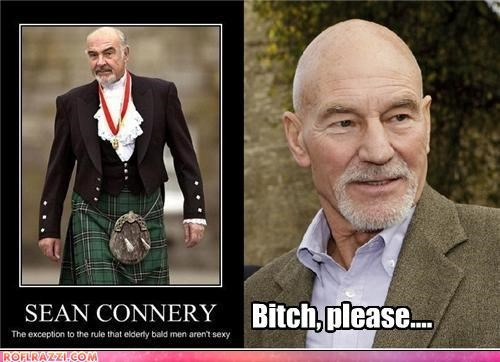 actor,celeb,funny,Hall of Fame,patrick stewart,sean connery