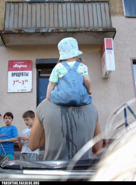 accident,baby,gross,only in russia,Parenting Fail,piggy-back ride,russia,stain