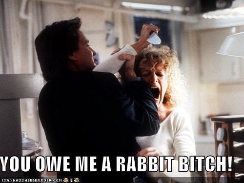 Fatal Attraction,Glenn Close,Michael Douglas,owe,rabbits