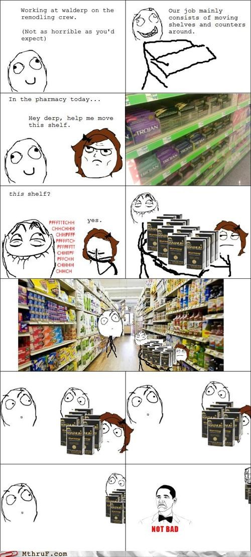 accidental sexy,condoms,not bad,rage comic,suspicious,Walmart