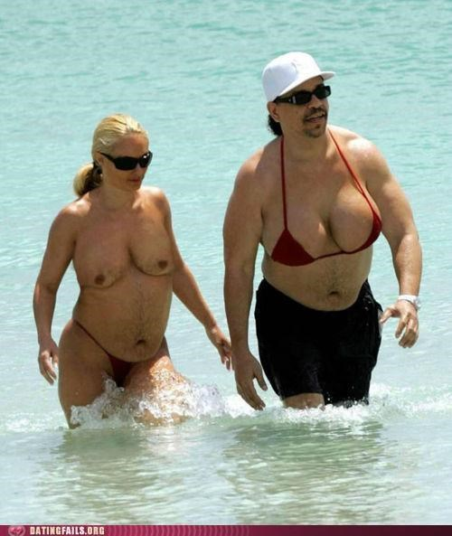 beach,body type,breasts,coco,ice t,man boobs,moobs,swimsuit,We Are Dating