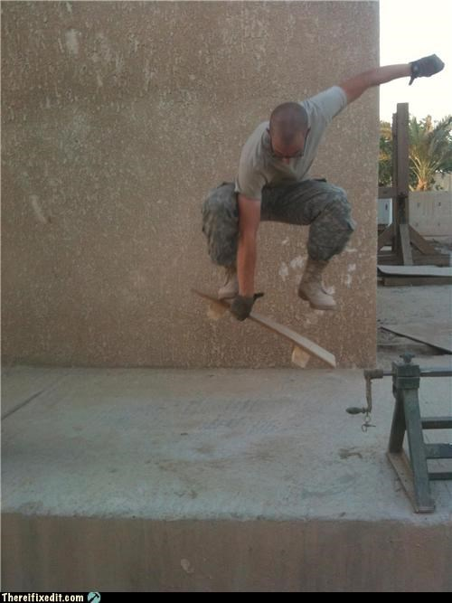 Skateboarding In Iraq