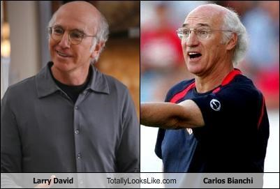 TLL Classics: Larry David Totally Looks Like Former Argentinian Footballer & Manager Carlos Bianchi