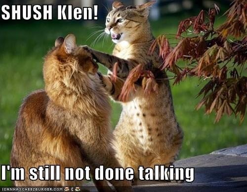 SHUSH Klen!  I'm still not done talking