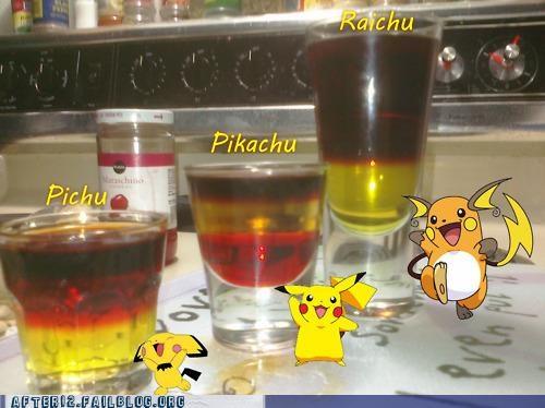 captain morgan,jagermeister,pikachu,Pokémon,recipe,shots