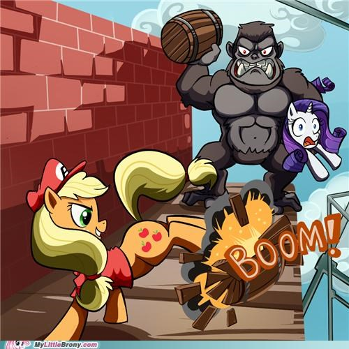 Applejack Doesn't Need to Jump Over the Barrels