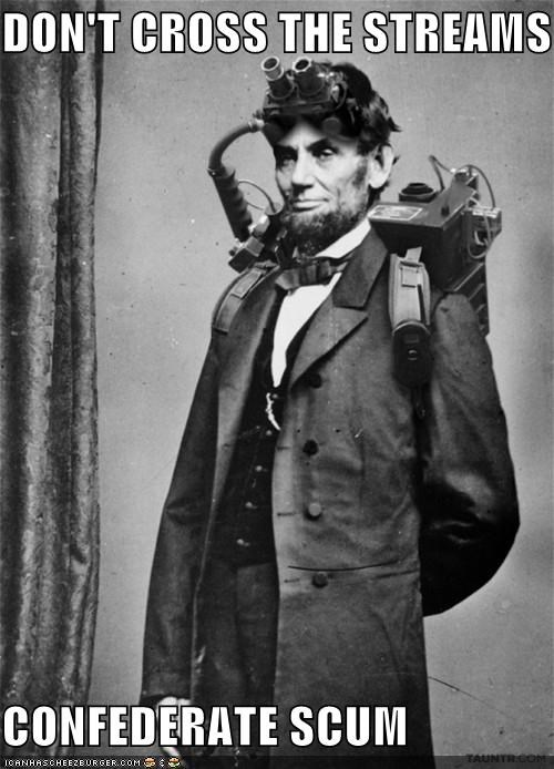 Bustin' Makes Abe Feel Good