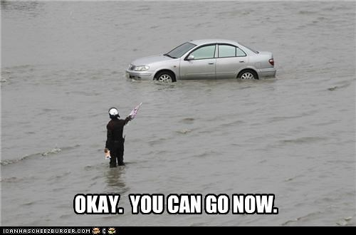 cars,flood,police,political pictures,traffic