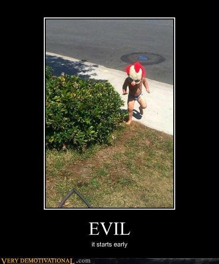 early,evil,hilarious,kid clown