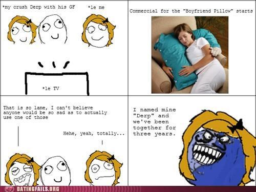 affair,cheating,comic,crush,Pillow,rage comic,taken,We Are Dating