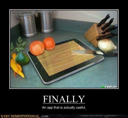 App,cutting board,ipad,Pure Awesome