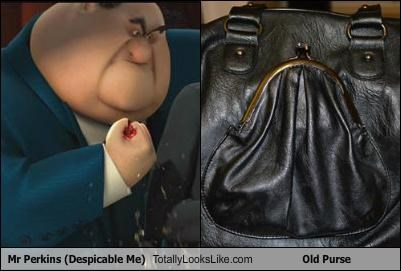 Mr Perkins (Despicable Me) Totally Looks Like Old Purse