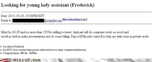 Legit Job Postings, Only on Craigslist
