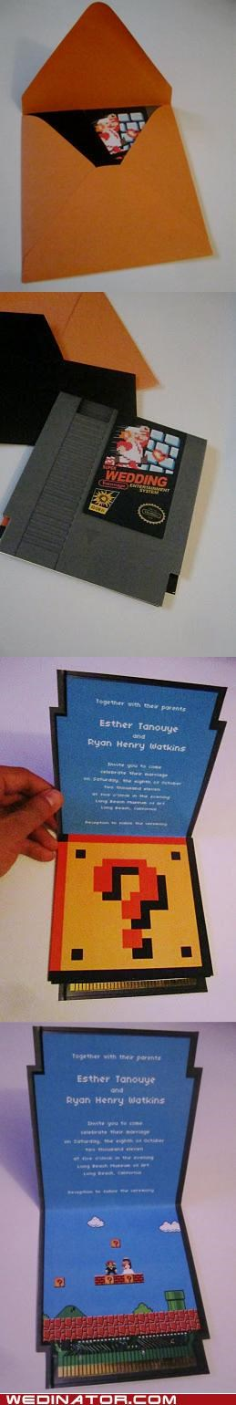 8-Bit Wedding Invitations