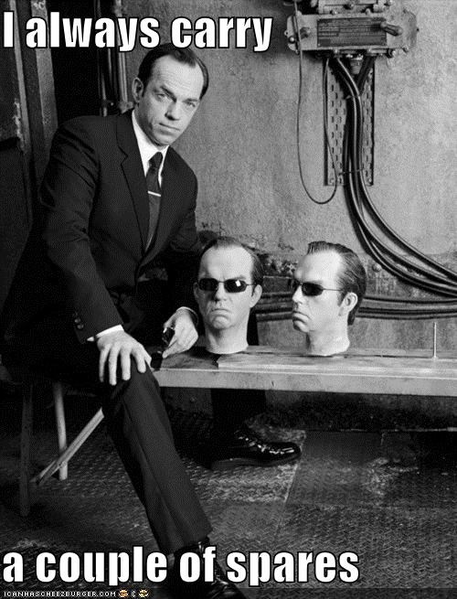 agent smith,heads,Hugo Weaving,spares,the matrix