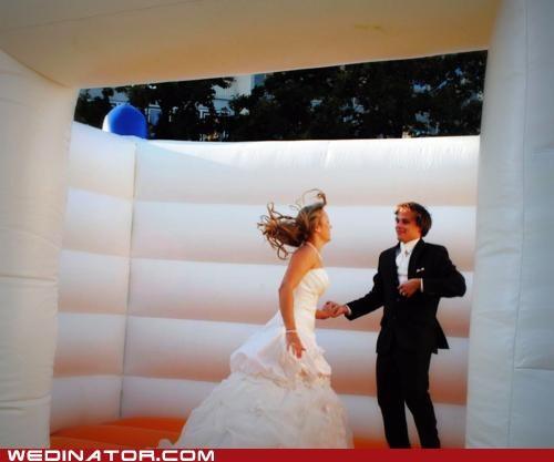 bouncy,bride,funny wedding photos,groom