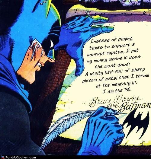 99 percent,batman,comics,Occupy Wall Street,political pictures